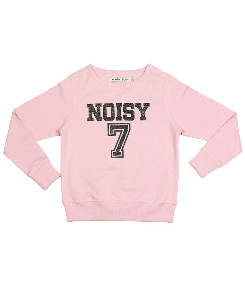 Allen Solly Pink Solid Sweatshirt