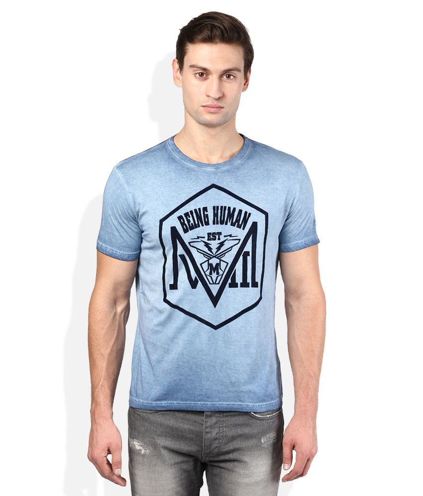 Being Human Blue T-Shirt