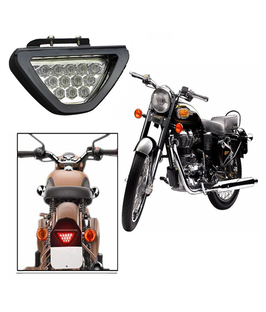 capeshopper led brake light with flasher for royal enfield bullet rh snapdeal com