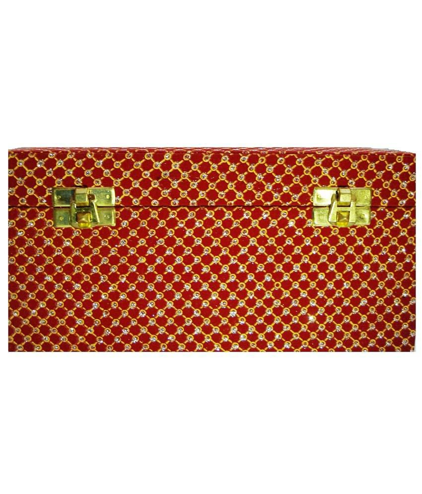 RJBH Red Wooden Bangle Box