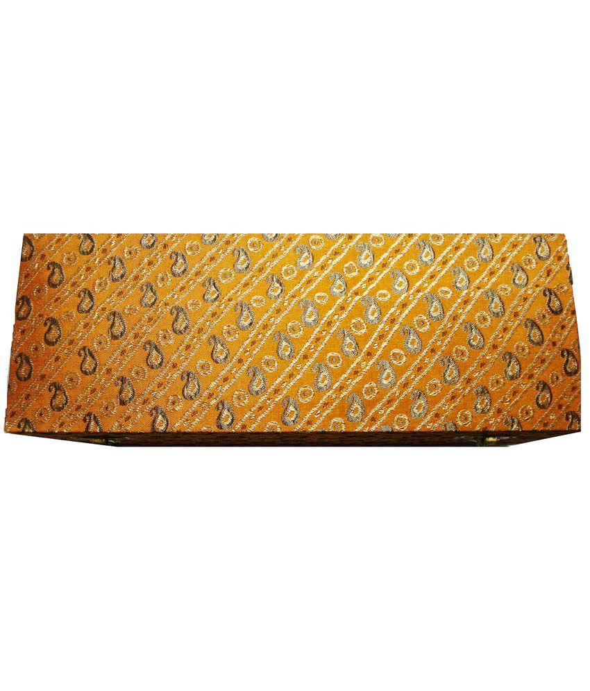 RJBH Yellow Wooden Bangle Box