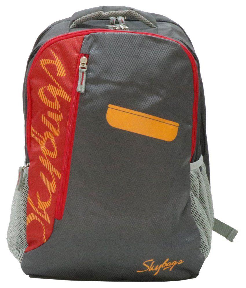 Skybag Grey Polyester Backpack Buy Skybag Grey Polyester