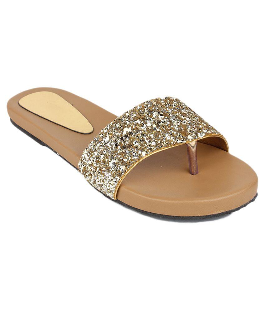 Bonzer Brown Flat Slip-ons