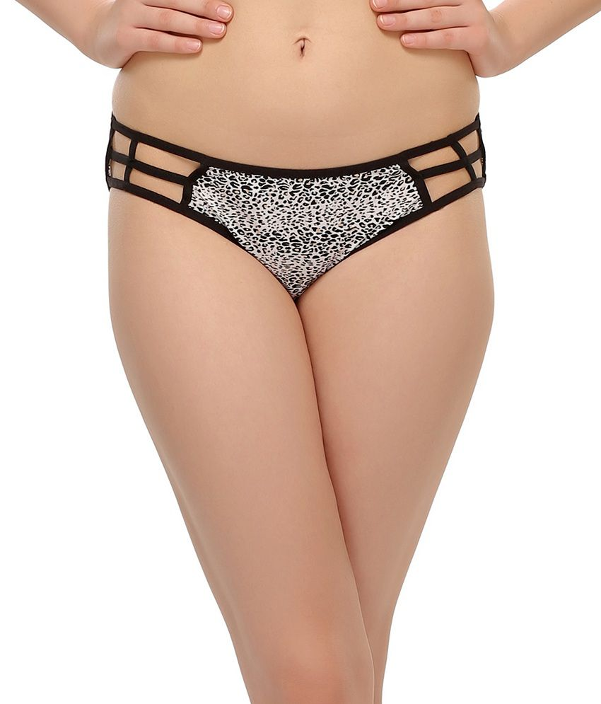 0a1e537b659 Buy Clovia Printed Bond Girl Bikini Brief Panty In Black Online at Best  Prices in India - Snapdeal