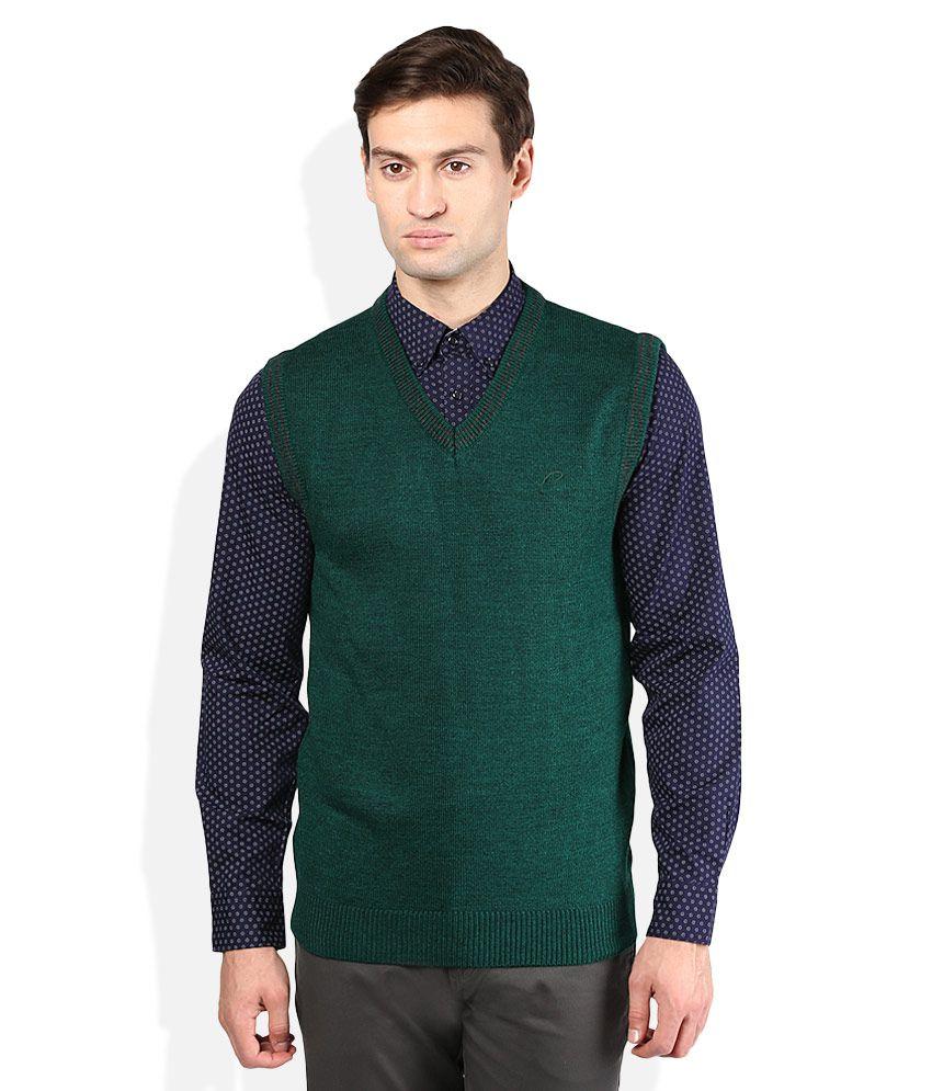 Proline Green V-Neck Sweater