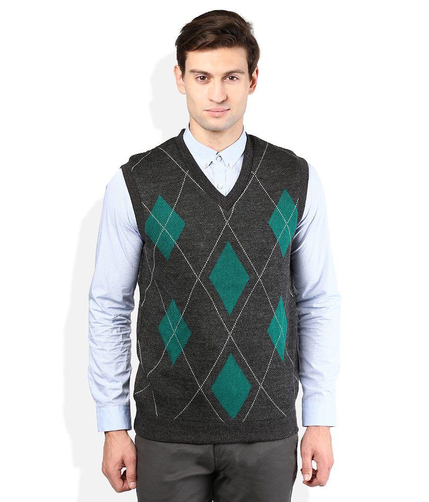 Proline Grey V-Neck Sweater