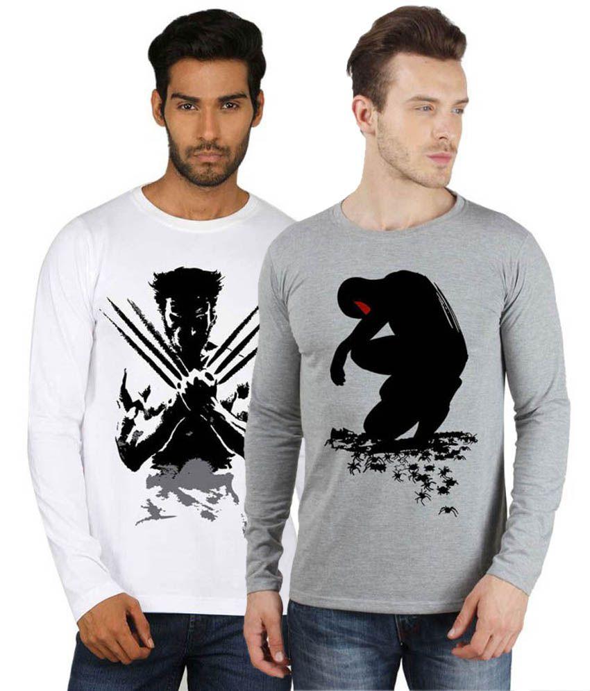 Sayitloud Pack of 2 Cotton T-Shirt