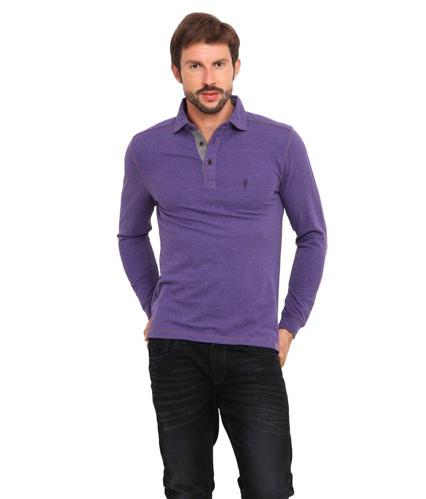 Smokestack Purple Full Casual Polo T-Shirt