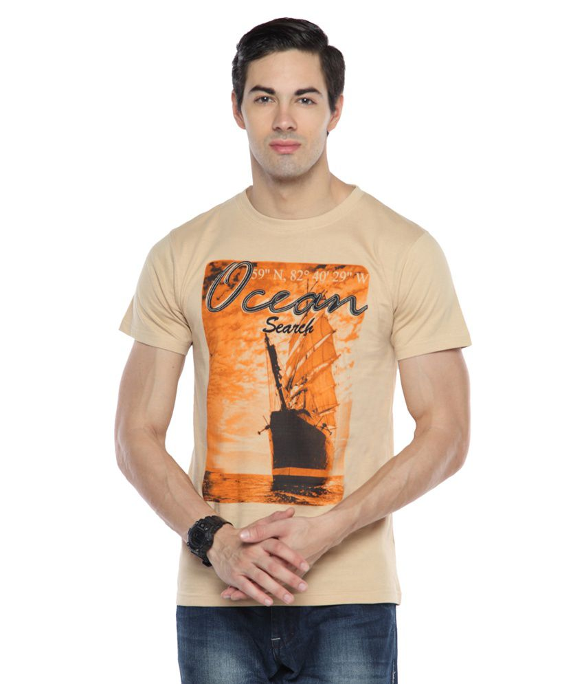Teen Tees Beige Cotton T-Shirt