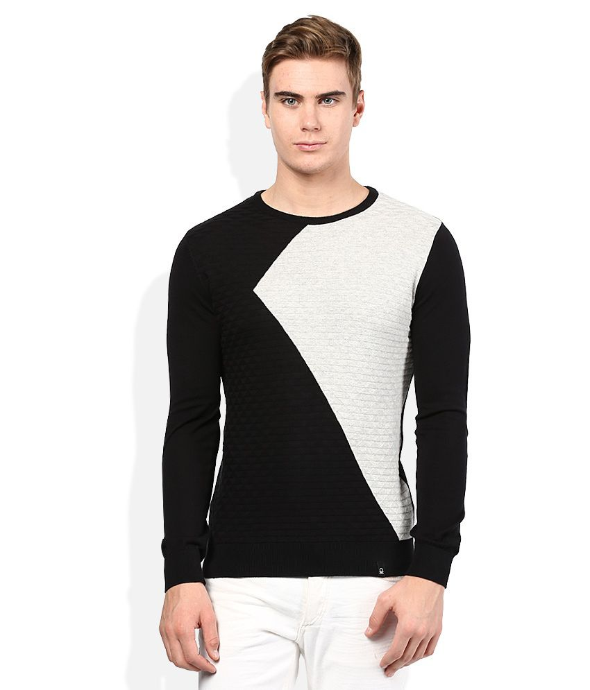 e7a72e807 United Colors Of Benetton Black Sweater - Buy United Colors Of ...