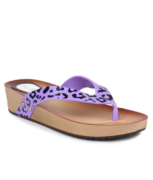 Do Bhai Purple Flip Flops