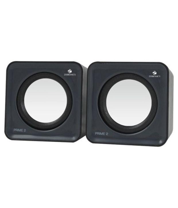 Zebronics Prime 2 2.0 Speakers - Black