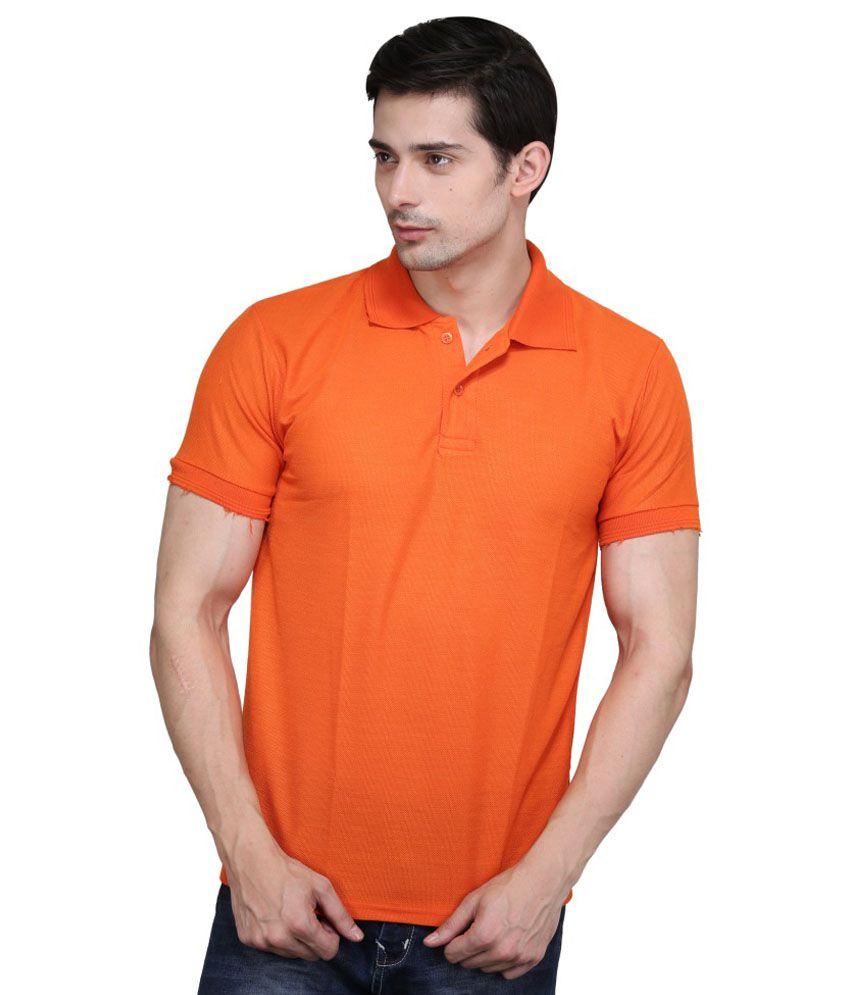 Highflier Orange Polyester T-Shirt