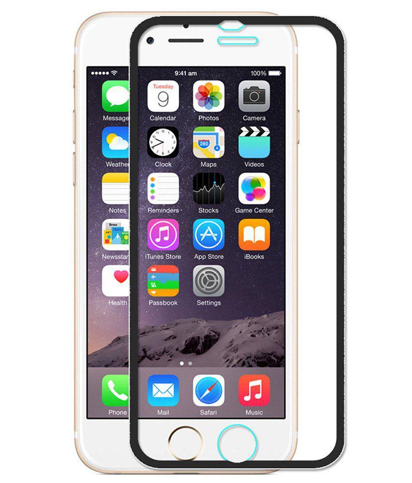 Apple Iphone 6 - Black Tempered Glass Screen Guard by PraIQ