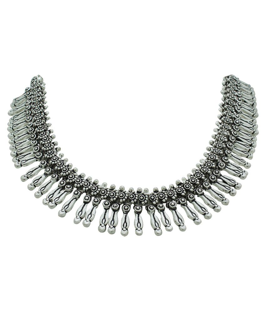 Frabjous Silver Contemporary Design Necklace