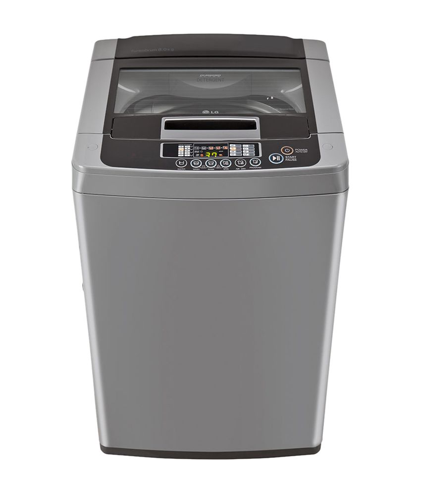 Lg 6.5 Kg T7567teelh Fully Automatic Top Load Washing Machine Middle Freesilver/ Deep Brown
