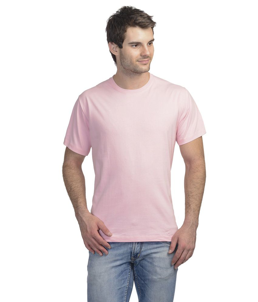 Onstreet Pink Cotton Blend T-shirt