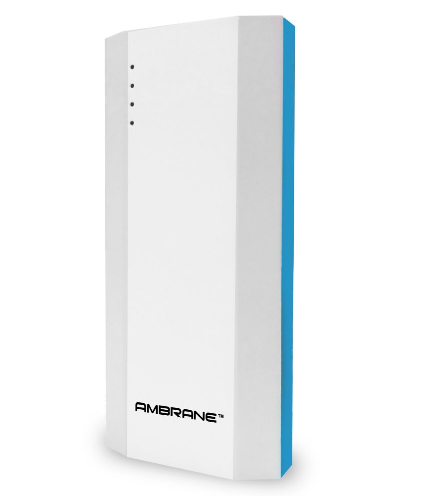 Upto 70% off On Power Banks By Snapdeal | Ambrane P-1111 10000 mAh Power Bank - Blue & White - for iOS and Android Devices @ Rs.629