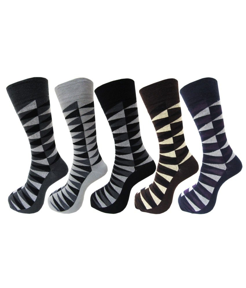 RC. Royal Class Multicolour Cotton Full Length Socks Pack Of 5