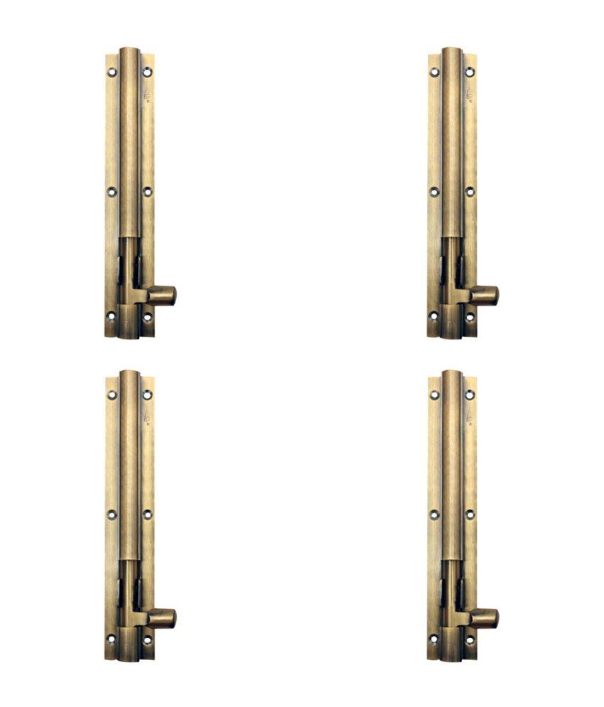 Srb Brass 6 inch Tower Bolt - Set Of 4