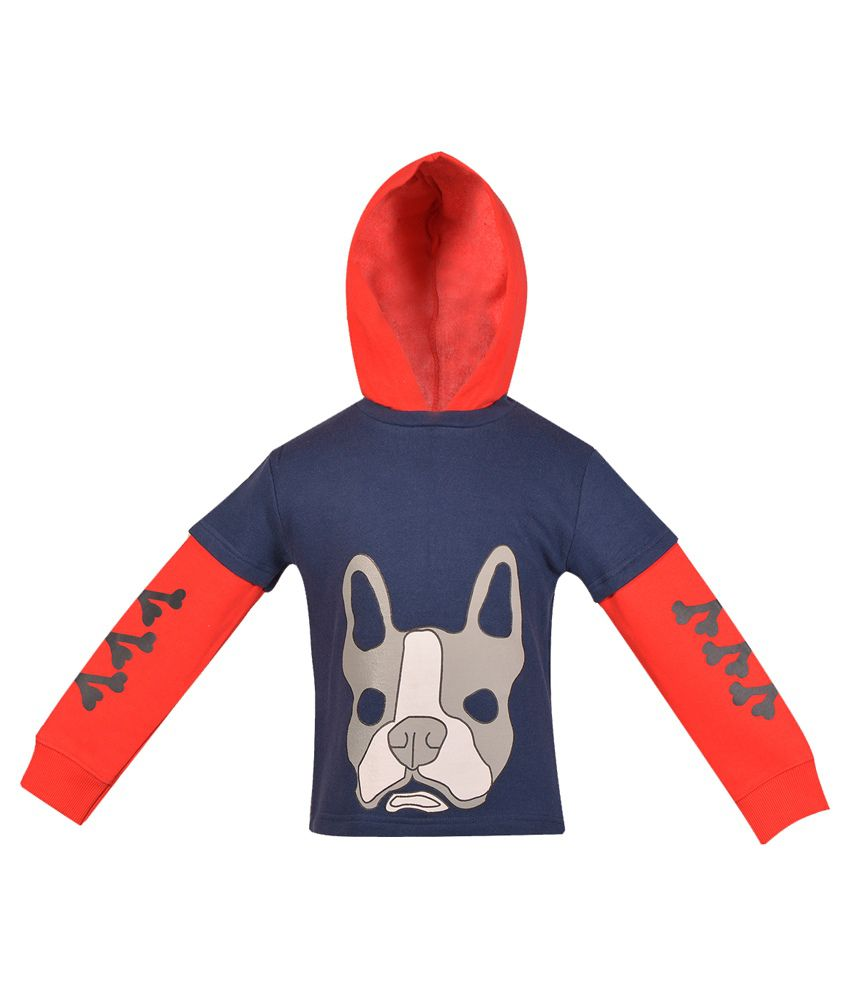 Gkidz Navy Blue Cotton Sweatshirt