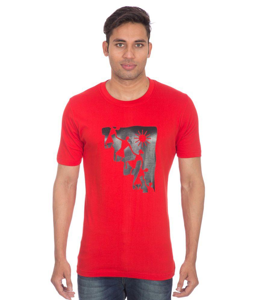 Mars Red Cotton T-shirt