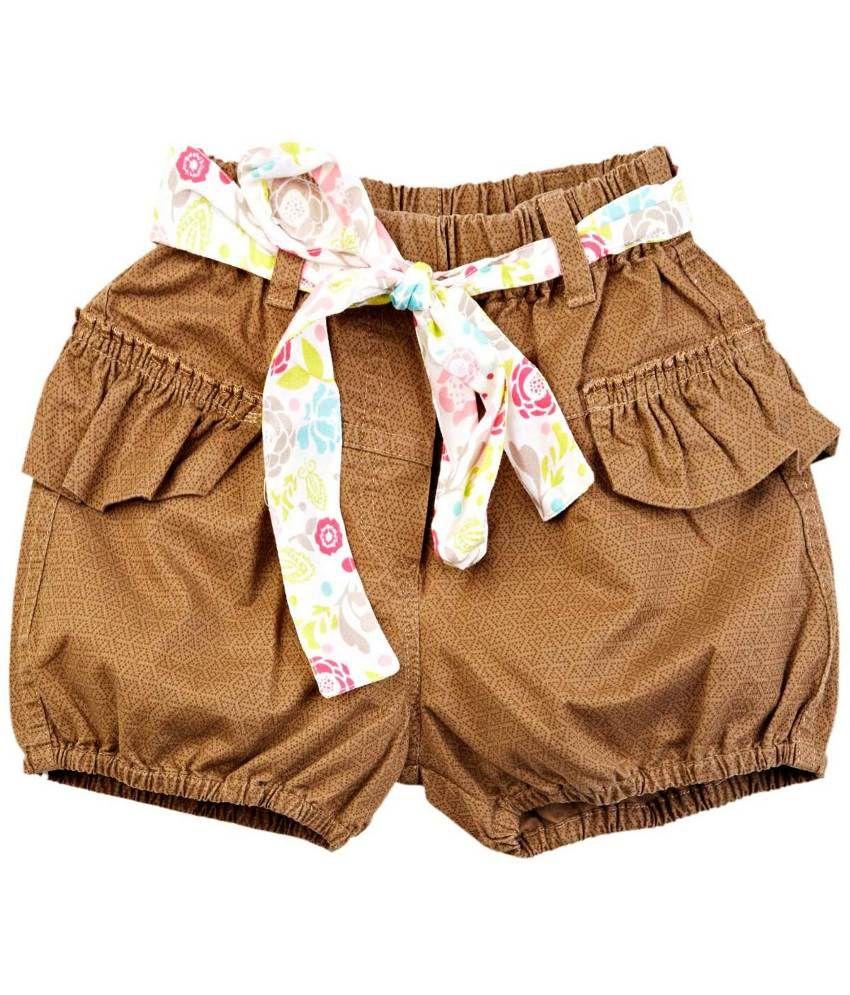 Oyez Brown Cotton Shorts