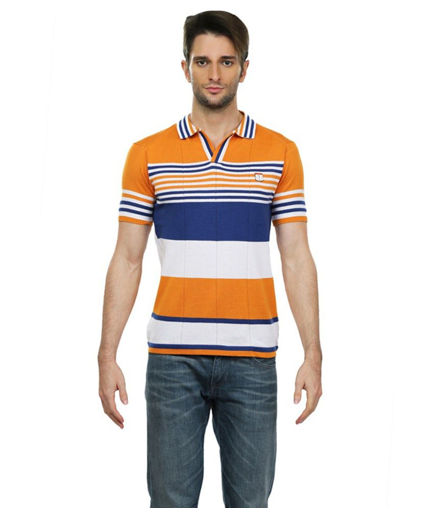 Pramukhautomation Multicolour Half Sleeve Polo T-Shirt