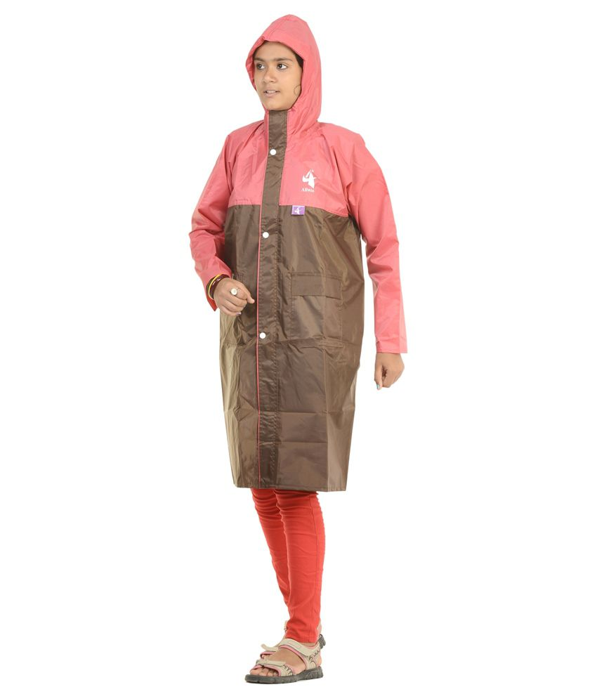Allwin Brown Polyester Raincoat