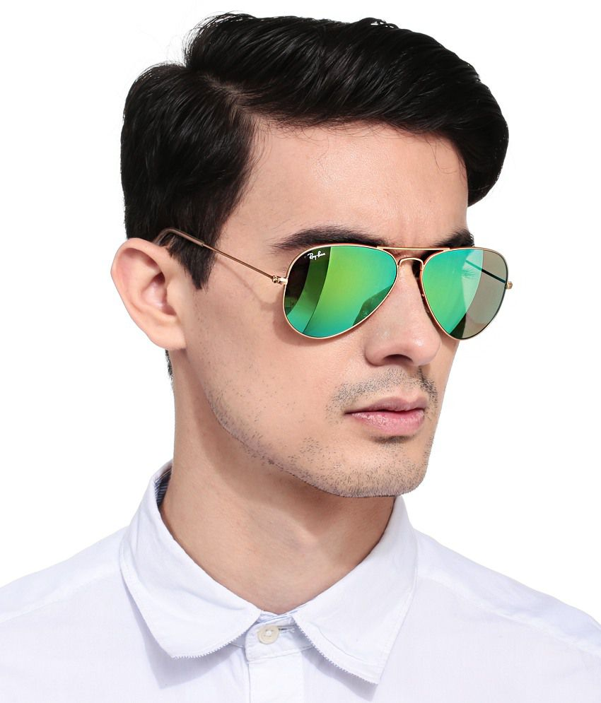 Rayban Aviator Green Gold Sunglasses Rb3025 112 19 Prices In