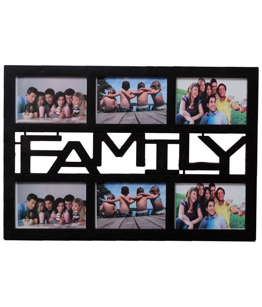 eCraftIndia Black 6 Photo Family Collage Photo Frame