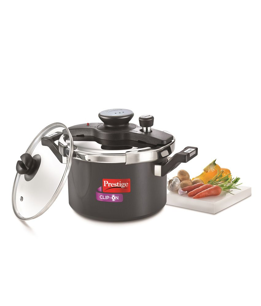 Prestige Kitchen Appliances Prestige Clip On Series Hard Anodised 5 Litre Pressure Cooker With