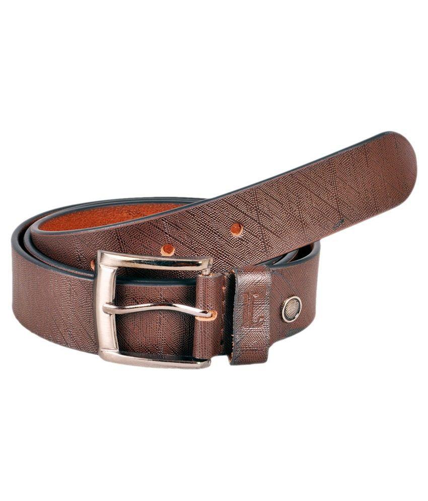 Ligans NY Brown Leather Formal Belt