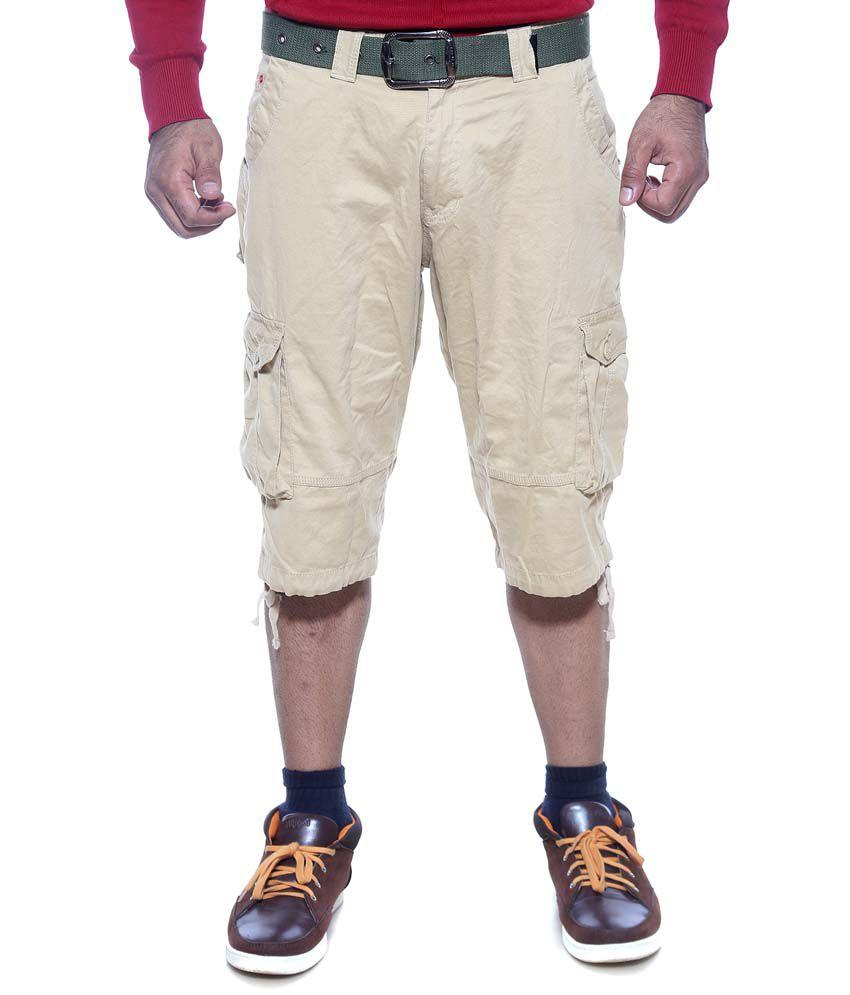 Sports 52 Wear Beige Cotton 3|4ths