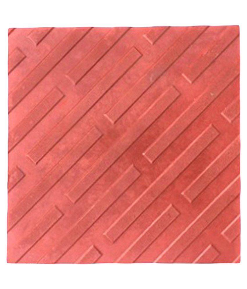 Buy white feet tiles red non ceramic tile 4 pcs online at low white feet tiles red non ceramic tile 4 pcs dailygadgetfo Choice Image