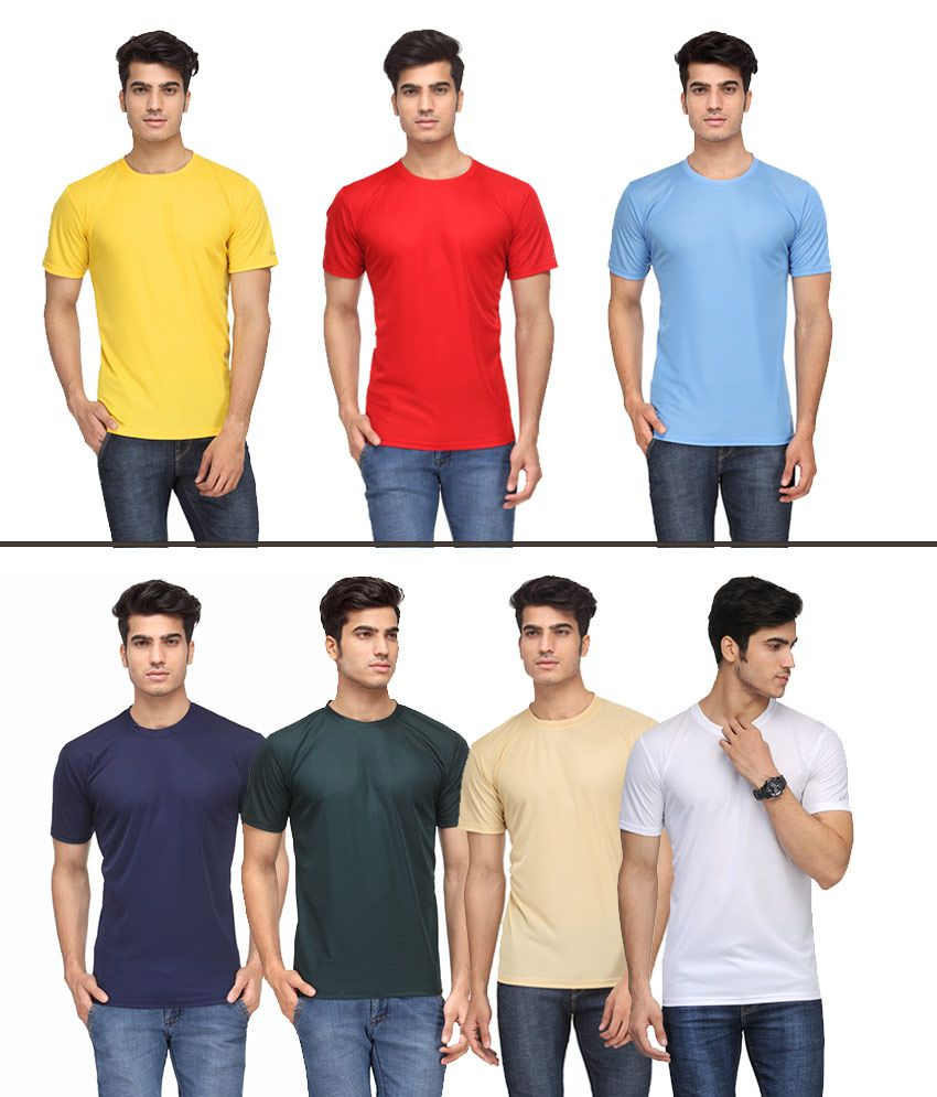 Rico Sordi Multicolour Polyester T Shirt (Pack Of 7)