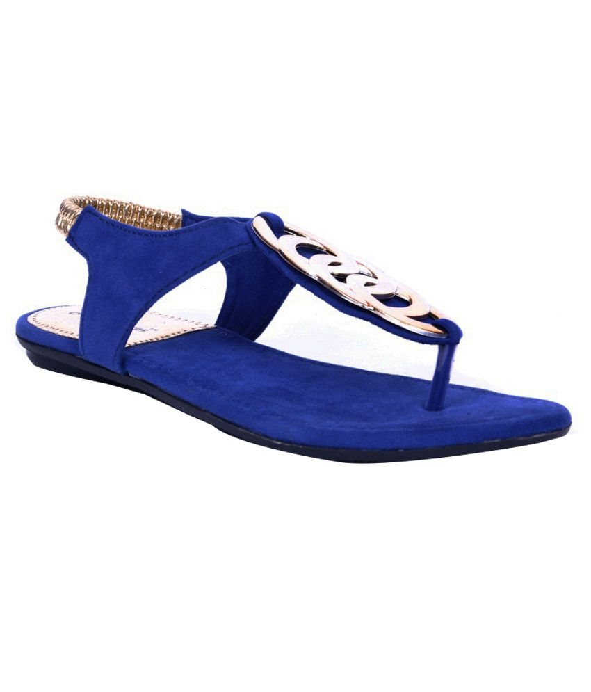 d03aedf4d282 Adjoin Steps Blue Flat Sandals Price in India- Buy Adjoin Steps Blue Flat  Sandals Online at Snapdeal