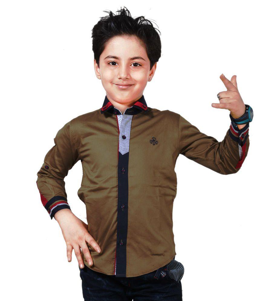 Apple Designer Clothing Brown Shirt