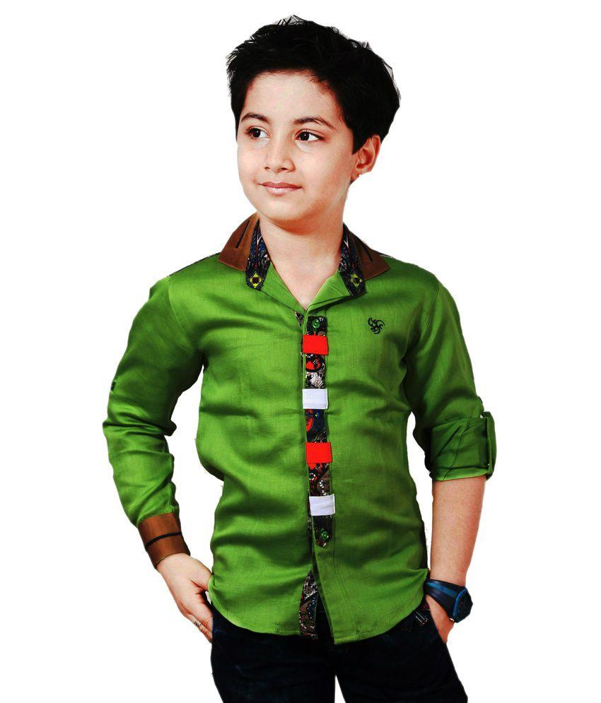 Apple Designer Clothing Green Shirt