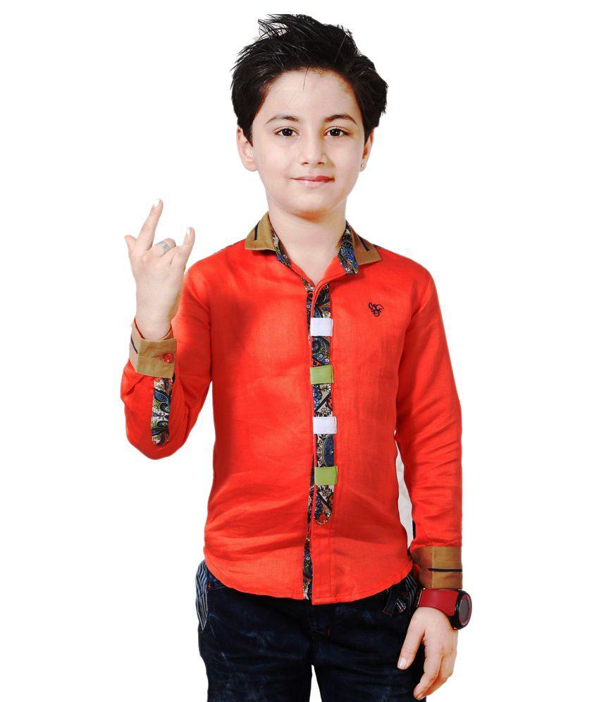 Apple Designer Clothing Orange Shirt