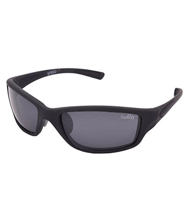 Backley Bs-1304 Black Non Metal Wrap Around Sunglasses
