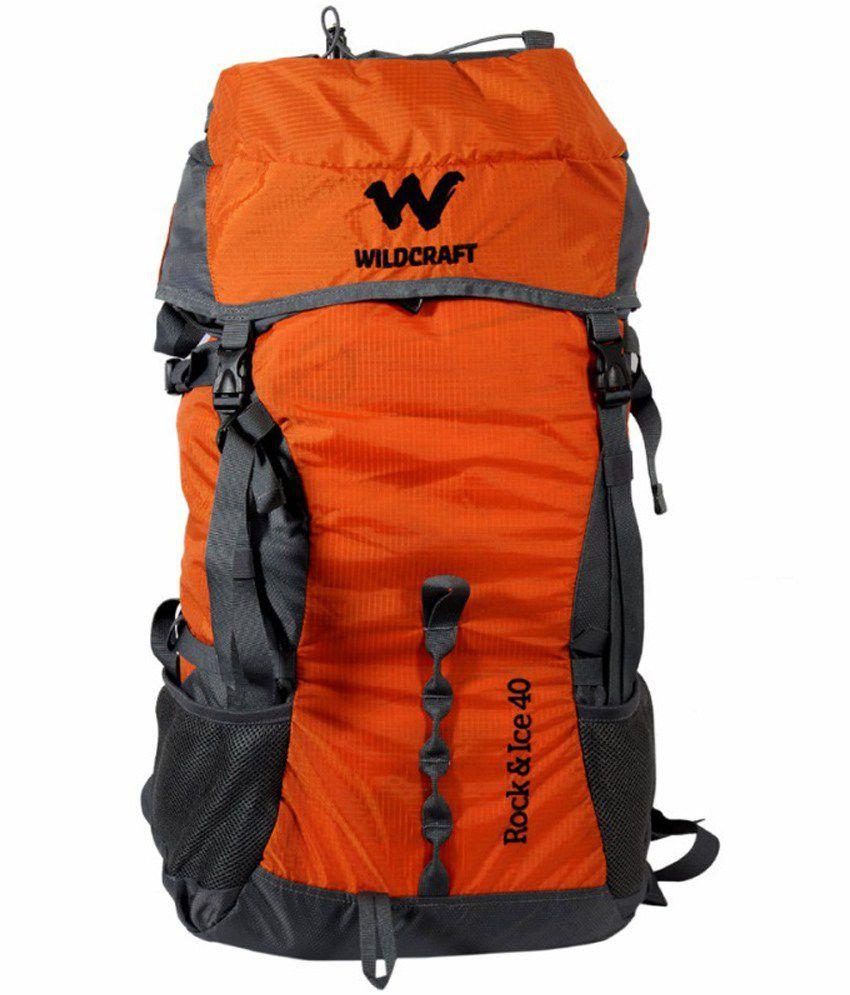 Wildcraft Rock & Ice Orange Rucksack Travel Backpack