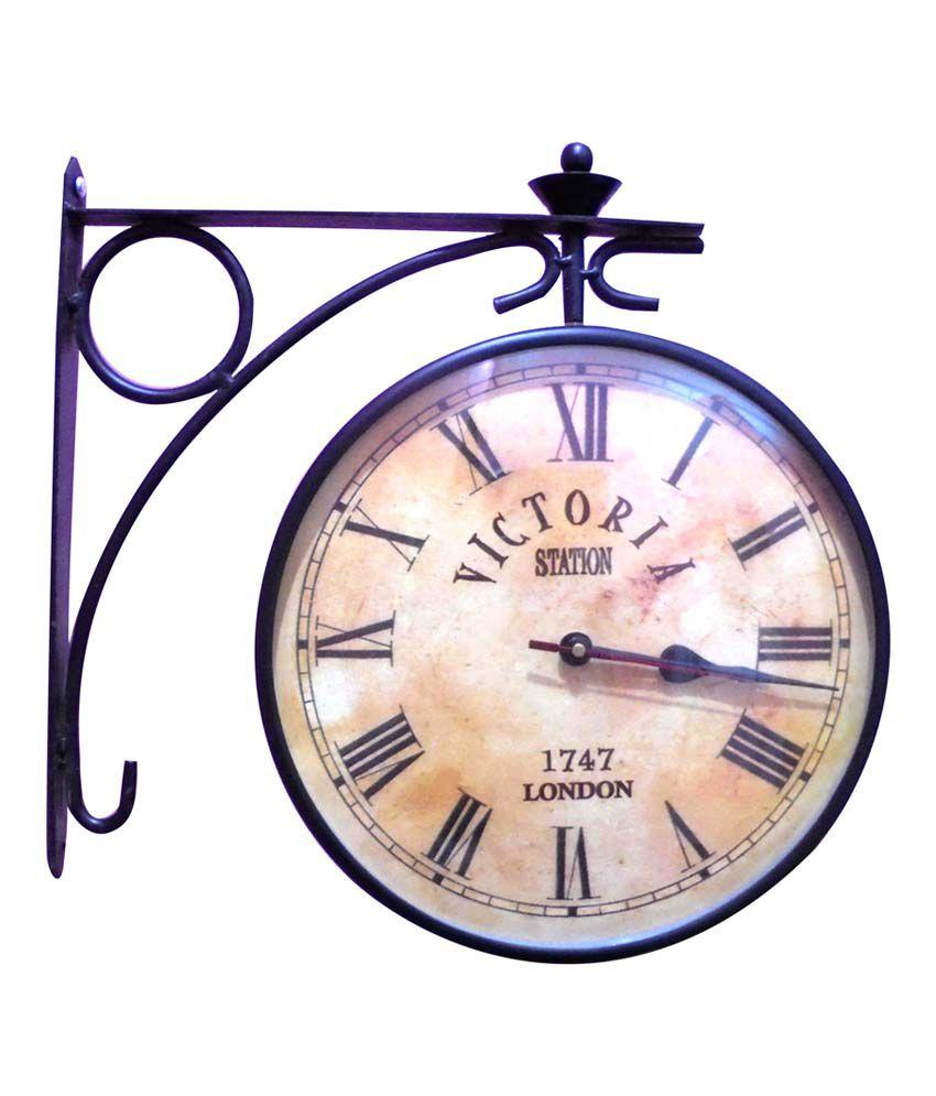 Ageless Azyra Vintage Twin Side Station Clock