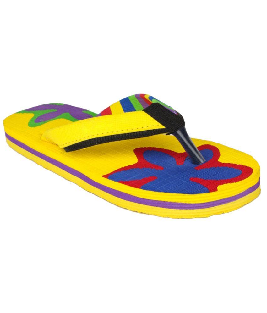11e Yellow Flip Flops