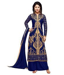Fashions Storey Blue Georgette Dress Material
