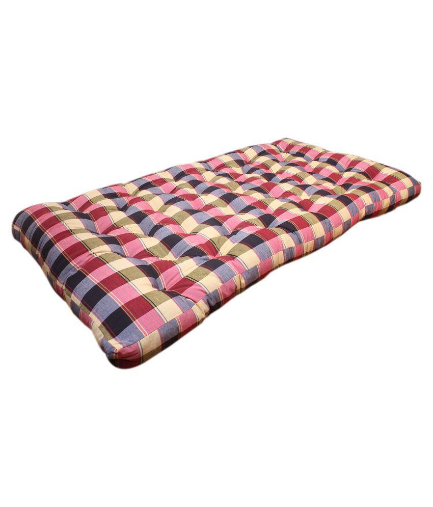 bajaj home furnishing multicolour cotton orthopedic mattress