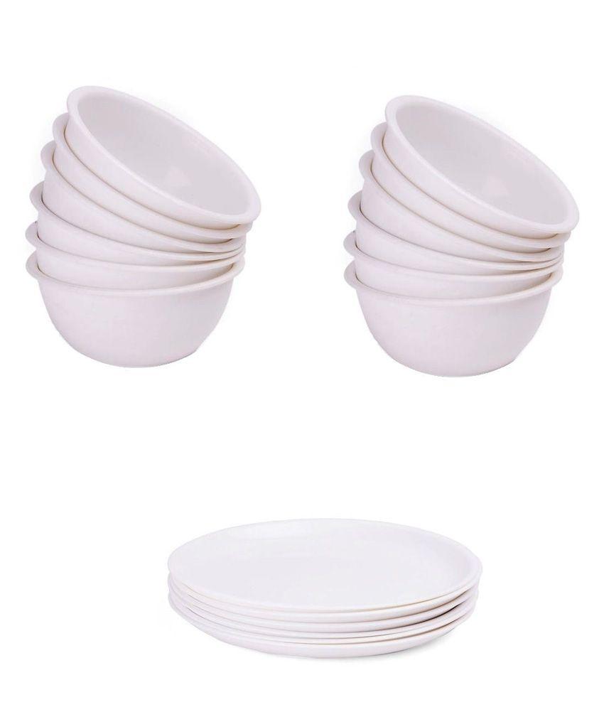 Bhargav Plastic Polypropylene 6 Plates and 12 Bowls Set  sc 1 st  Snapdeal & Bhargav Plastic Polypropylene 6 Plates and 12 Bowls Set: Buy Online ...