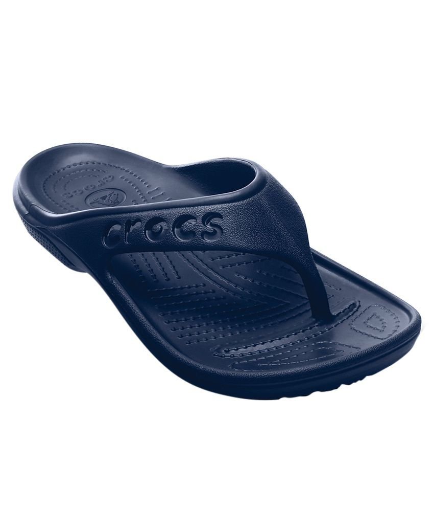 Crocs Relaxed Fit Baya Navy Flip Flops