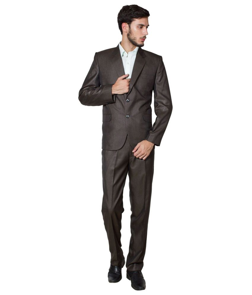 Wintage Brown Poly Blend Suit