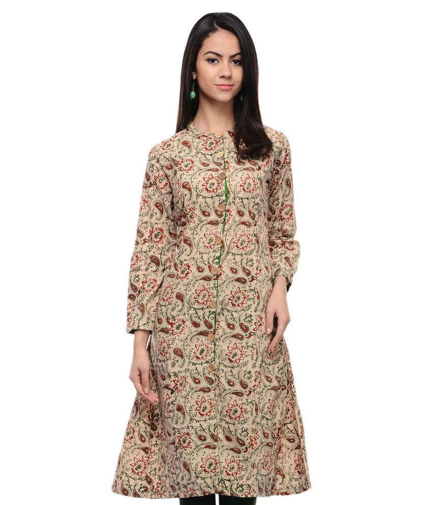 Shuddhi Brown Cotton Kurti